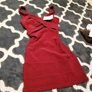 Emerald Sundae Womans Red Dress Small New